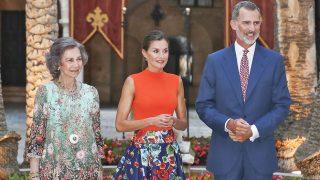 Los Reyes en la recepción en la Almudaina / Gtres