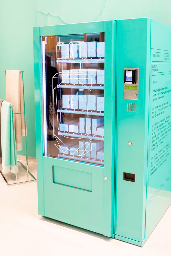 Maquina vending Tiffany & Co