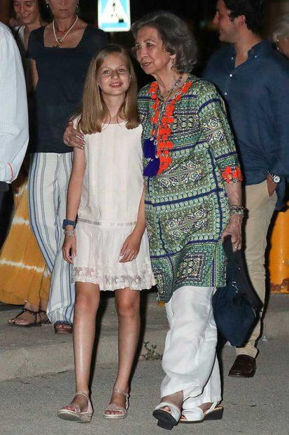 Doña Sofía y su nieta, la princesa Leonor