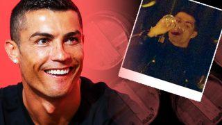 Cristiano Ronaldo, ¿realmente es abstemio?