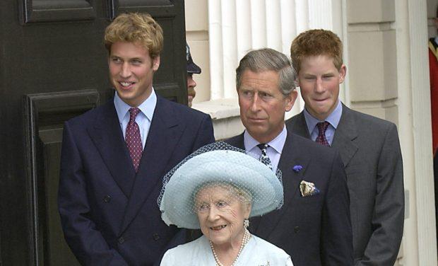 príncipes Harry y Guillermo