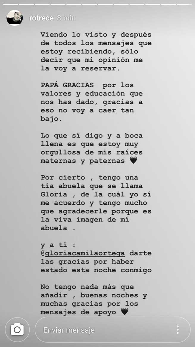 La respuesta de Rocío Flores al documental sobre los Jurado