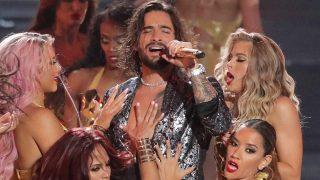 Maluma, durante la pasada gala de MTV / Gtres.
