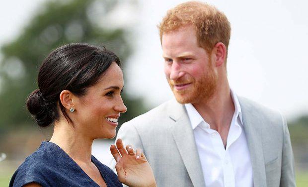 Meghan Markle y el príncipe Harry en una imagen del pasado julio