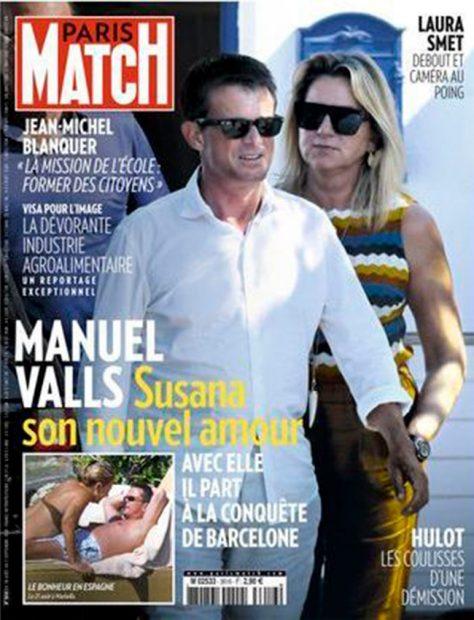 Manuel Valls, Susana Gallardo, Paris Match