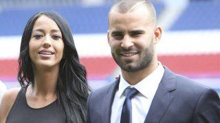 Aurah y Jesé, en la presentación de Jesé como jugador del PSG / Gtres.
