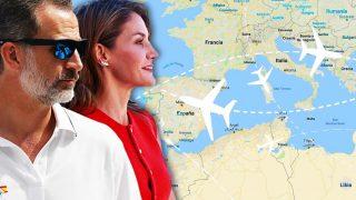 Los reyes Felipe y Letizia en un fotomontaje de LOOK