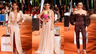 GALERÍA: Las chicas 'Velvet' toman la alfombra naranja del Festival de Vitoria. / Gtres