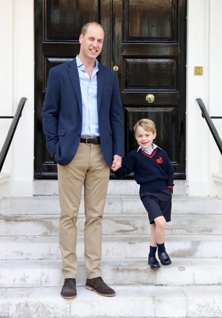 El príncipe George en su primer día de colegio el pasado año / Gtres
