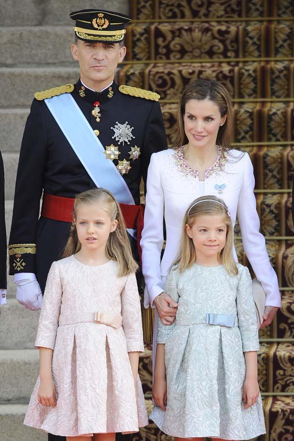 Familia Real durante la coronación