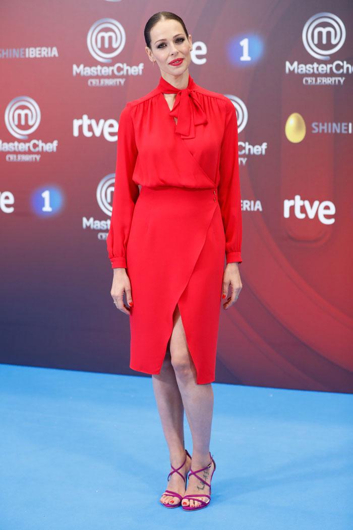 Eva González en la presentación de Masterchef Celebrity 2018