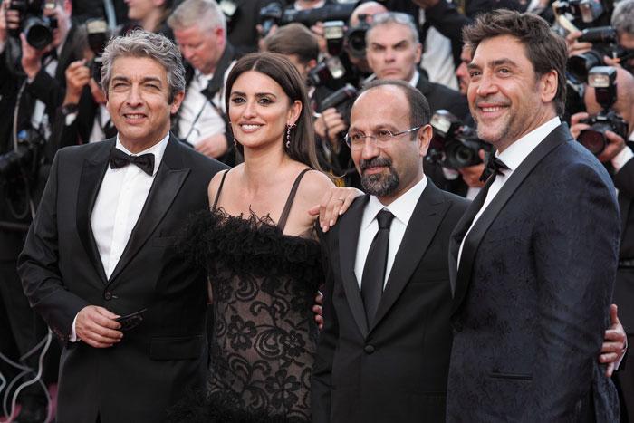 Ricardo Darín, Penélope Cruz, Asghar Farhadi y Javier Bardem