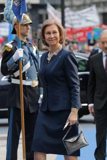 Doña Sofía con una pieza de Quirós / Gtres