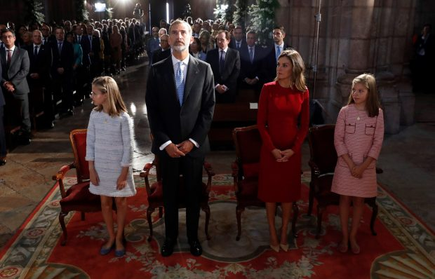 El chocante gesto de los Reyes y sus hijas en Covadonga