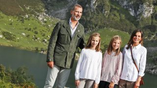 Los Reyes y sus hijas en el nuevo Mirador de la Princesa / Gtres