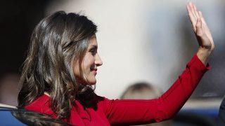 La Reina Letizia a su llegada a Covadonga / Gtres