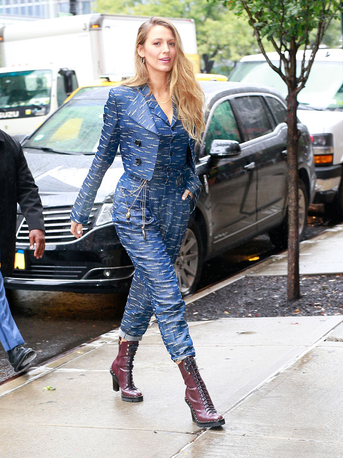 Blake Lively en la 'fashion week' de Nueva York