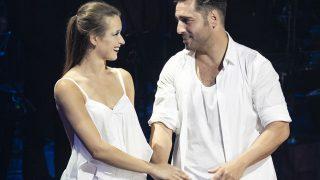 David Bustamante y Yana Olina durante una grabación de 'Bailando con las estrellas' / Gtres