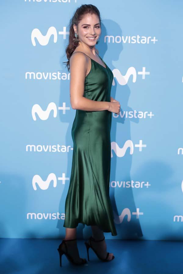 La actriz Andrea Duro en la fiesta de Movistar Plus 2018