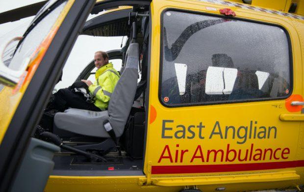 EL Príncipe en una de las ambulancias / Gtres