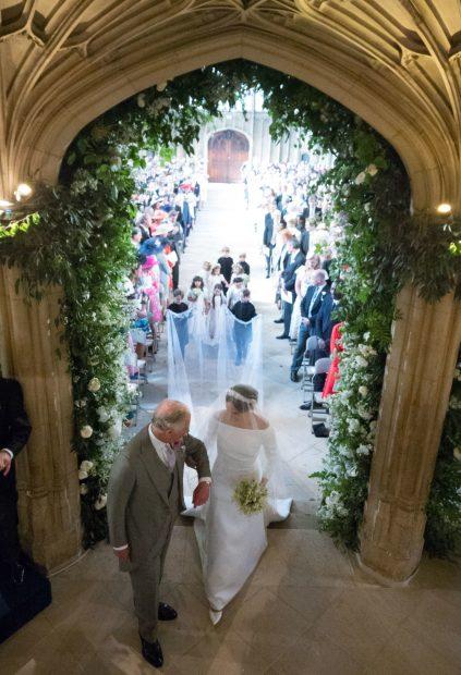Carlos y Meghan el día de la boda / Gtres