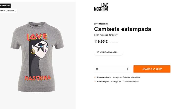La camiseta de Moschino está a la venta en Zalando / Zalando