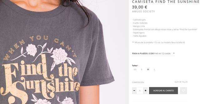 Camiseta sunshine Slow Love
