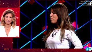 Isa Pantoja, en el momento de conocer las palabras de su madre / Telecinco