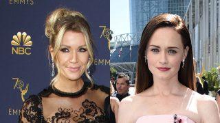 Nicole Kimpel y Alexis Bledel en los Premios Emmy 2018. / Gtres