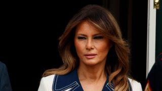 Melania Trump tras recibir al Presidente de Polonia y a su esposa en la Casa Blanca / Gtres