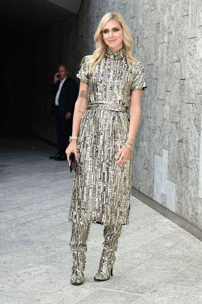 Chiara Ferragni durante la Fashion Wekk de Milán / Gtres