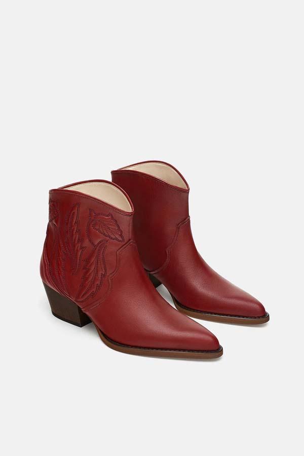 Zara botines cowboy