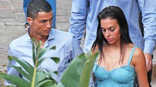 Cristiano Ronaldo y Georgina, durante una cena en Málaga / Gtres