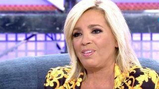 Carmen Borrego, durante su intervención en Sábado Deluxe / Telecinco.