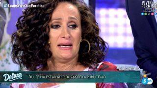 Dulce Delapiedra, durante el programa /  Telecinco.