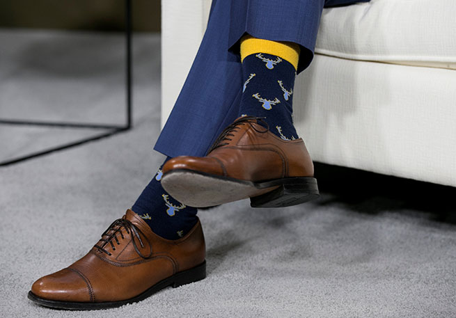 trudeau calcetines renos