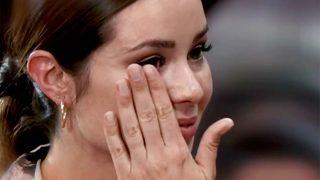 Dafne Fernández se emocionó a la hora de abandonar el concurso / TVE