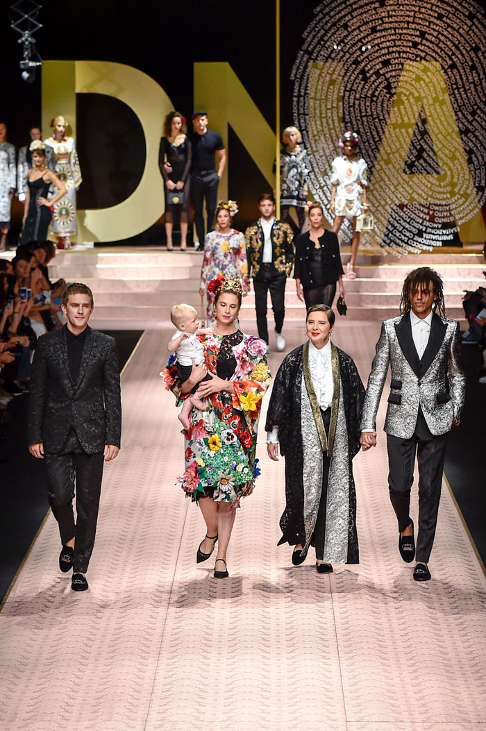 Desfile de Dolce & Gabbana en la Semana de la Moda de Milán 2018