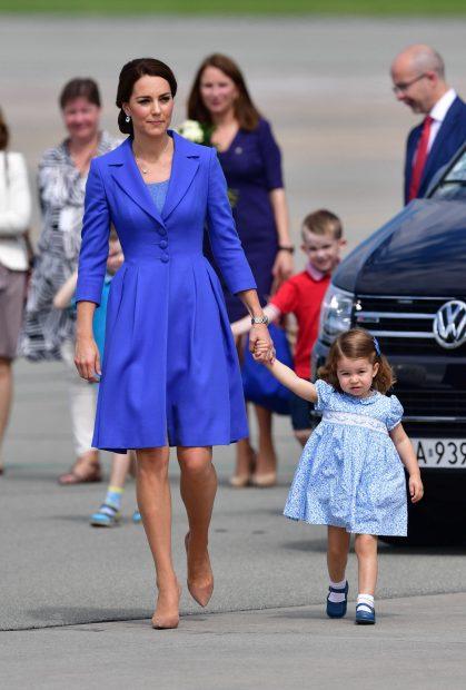Kate Middleton con el look de Catherine Walker / Gtres