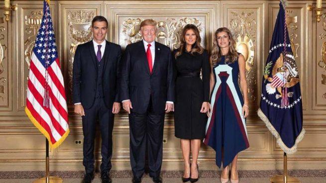 Pedro Sánchez, Donald Trump, Melania Trump y Begoña Gómez