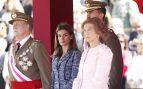 Doña Letizia con los reyes eméritos don Juan Carlos y doña Sofía