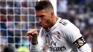 Sergio Ramos, celebrando un gol reciente con el Real Madrid / Gtres