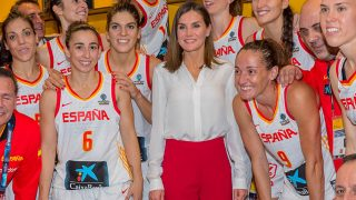 La reina Letizia, con la selección española / Gtres.