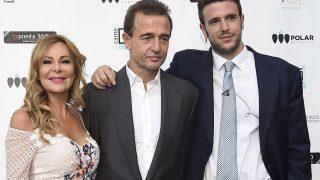 La actriz Ana García Obregon , Alejandro Lequio y Álex Lequio en una imagen de archivo / Gtres