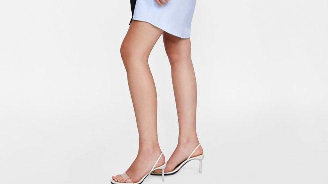 Sandalias de tacón de vinilo Zara