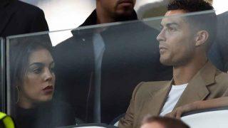 Georgina y Cristiano, en el palco del Juventus Stadium, este pasado martes 2 de octubre / Gtres