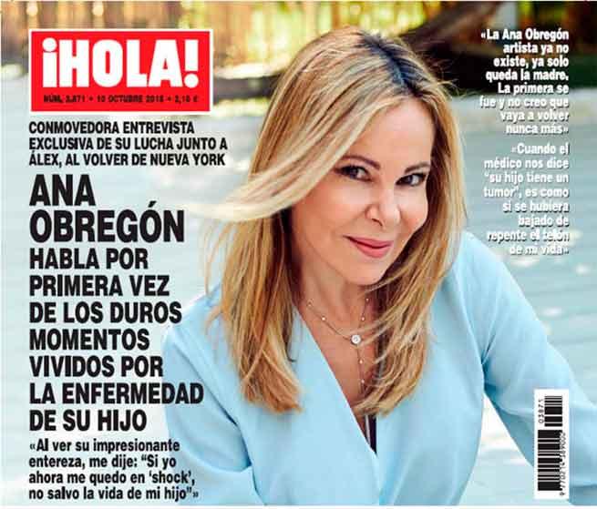 Ana Obregón habla sobre la enfermedad de su hijo: «Ya no existe la Ana artista, solo la Ana madre»