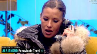 El novio de Techi rompe con ella en directo mendiante una llamada telefónica/ Telecinco