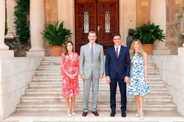 Begoña Gómez, Pedro Sánchez,, Rey Felipe, Reina Letizia