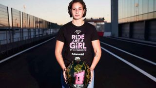 Ana Carrasco, posando tras lograr su campeonato de motociclismo / Gtres